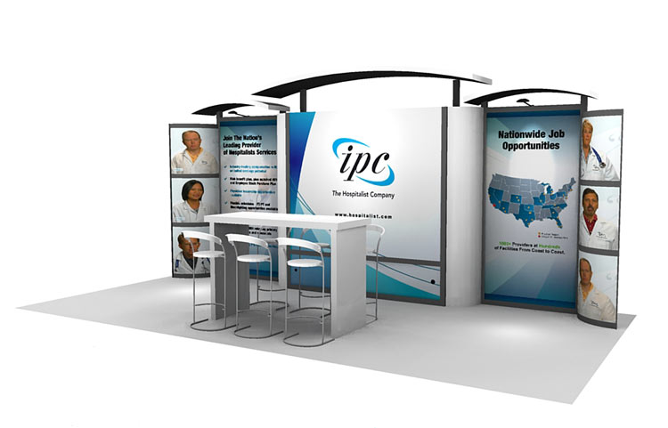 Trade Show Booth Kiosks : Trade show island booth modular panel display tradeshow